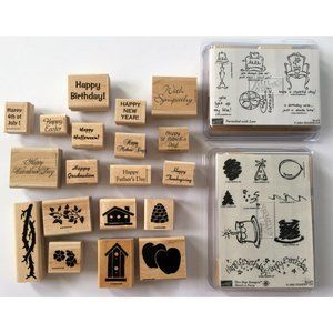STAMPIN UP 34 Rubber Stamp Set Collection Birthday